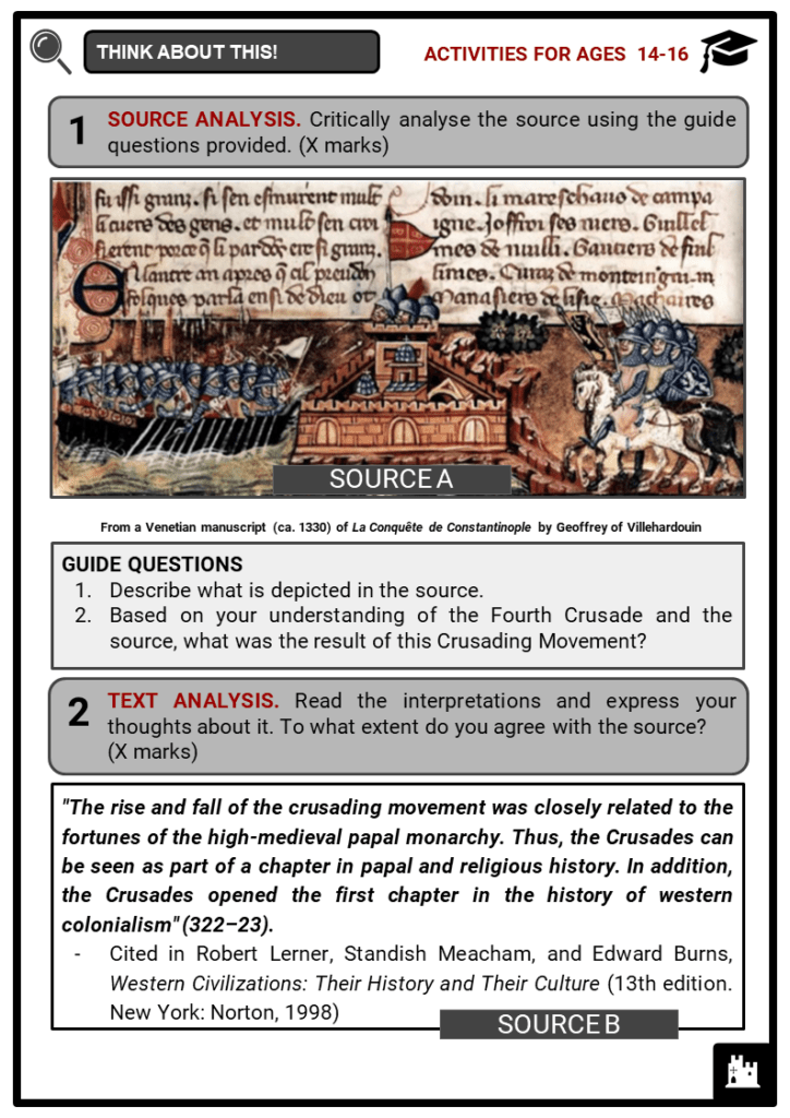 The Crusades Student Activities & Answer Guide 3