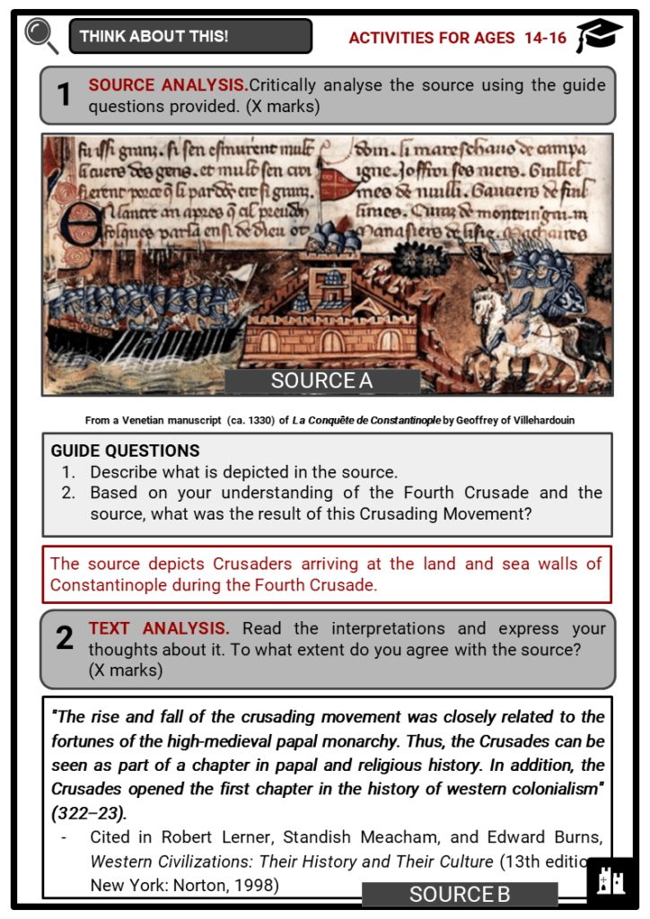 The Crusades Student Activities & Answer Guide 4