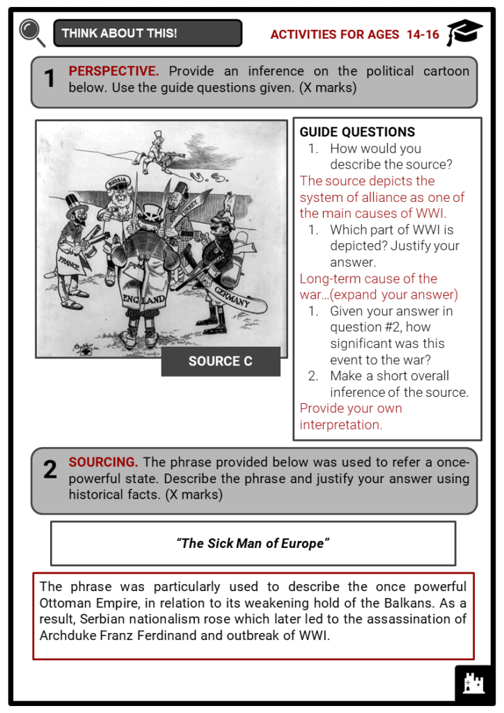 The Great War (World War I) Student Activities & Answer Guide 4