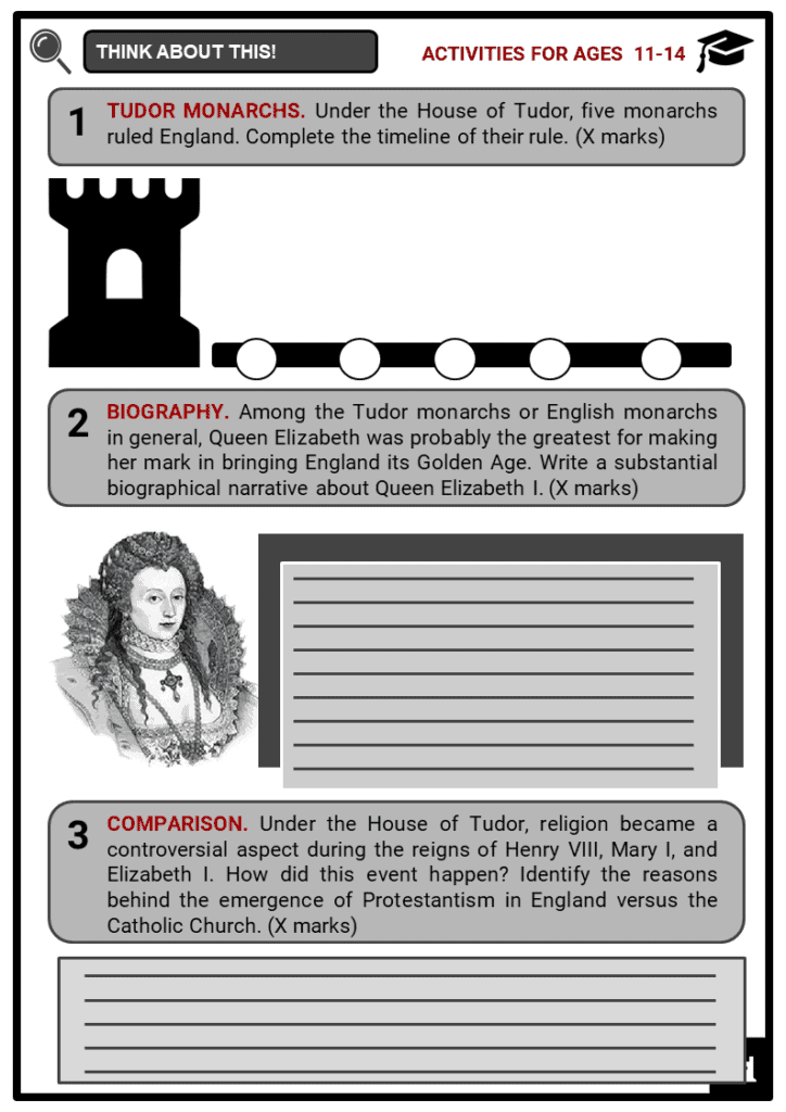 The Tudor Family Tree Student Activities & Answer Guide 1