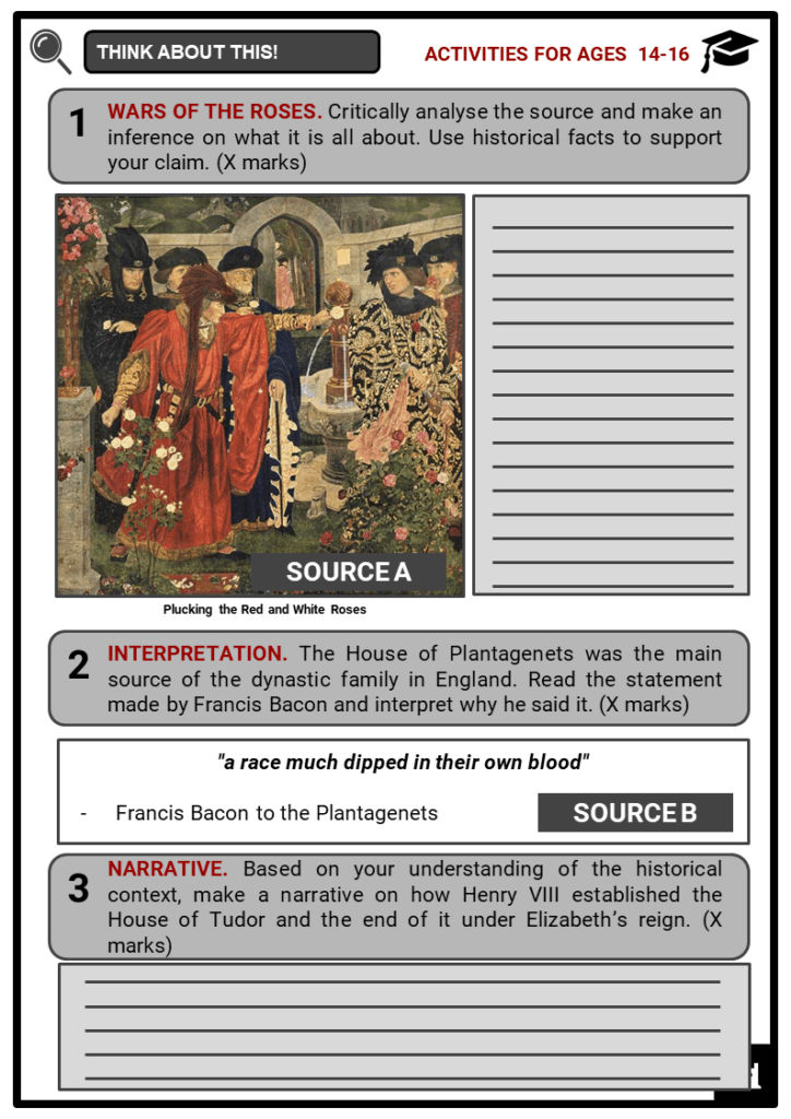 The Tudor Family Tree Student Activities & Answer Guide 3