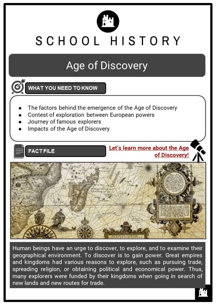 Age of Discovery Facts, Worksheets, Impact, Summary & Outcomes