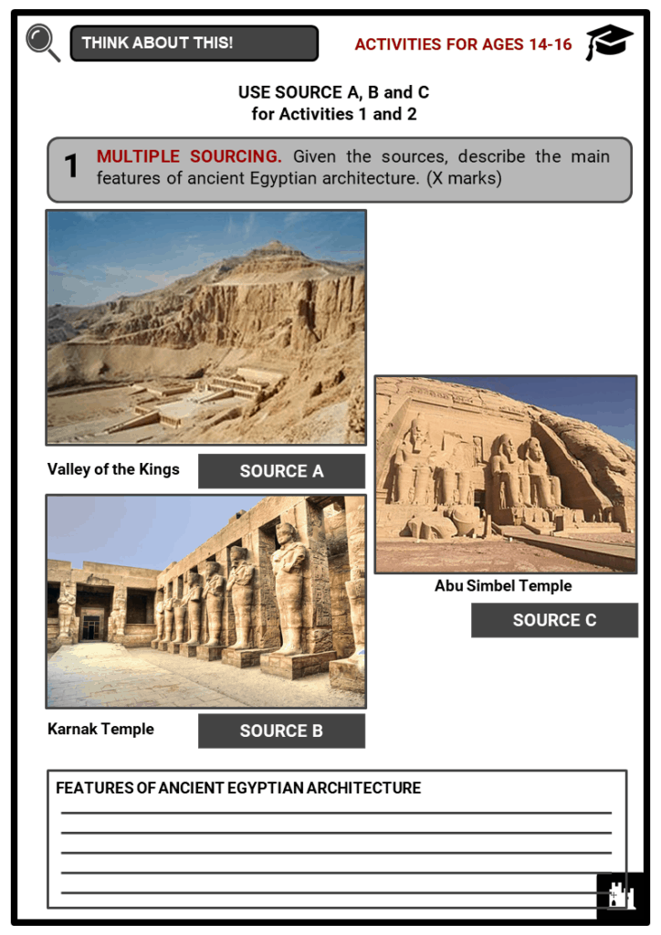 Ancient Egyptian Architecture Student Activities & Answer Guide 3