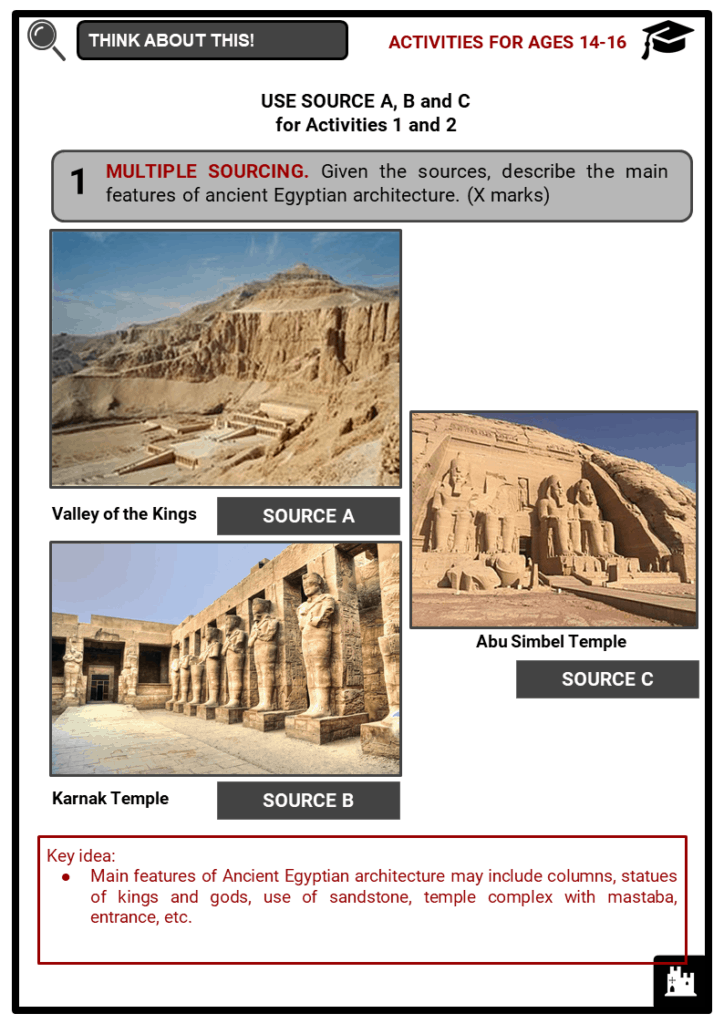 Ancient Egyptian Architecture Student Activities & Answer Guide 4