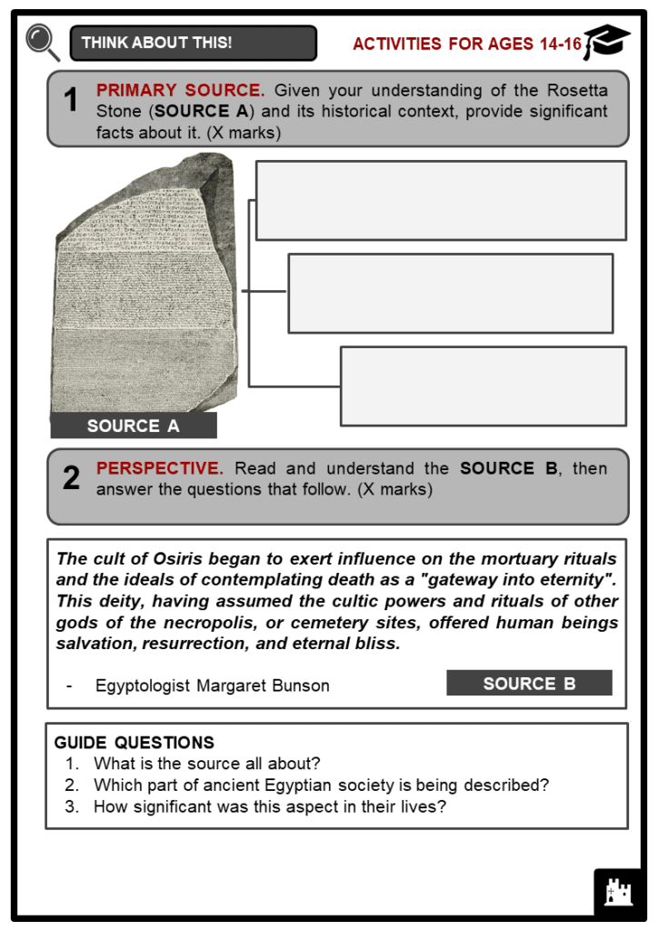 Ancient Egyptian Civilization Student Activities & Answer Guide 3