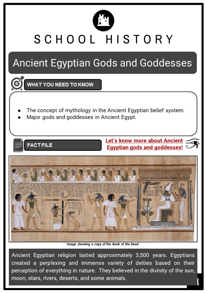 Ancient Egyptian Gods and Goddesses Resource Collection 1