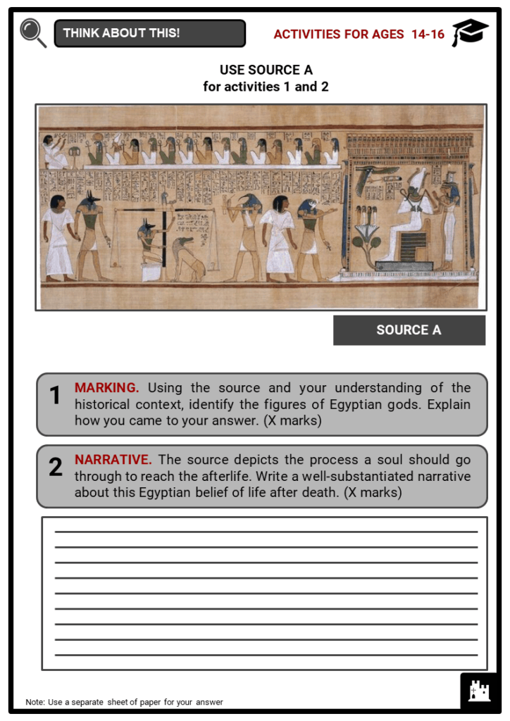 Ancient Egyptian Gods and Goddesses Student Activities & Answer Guide 3