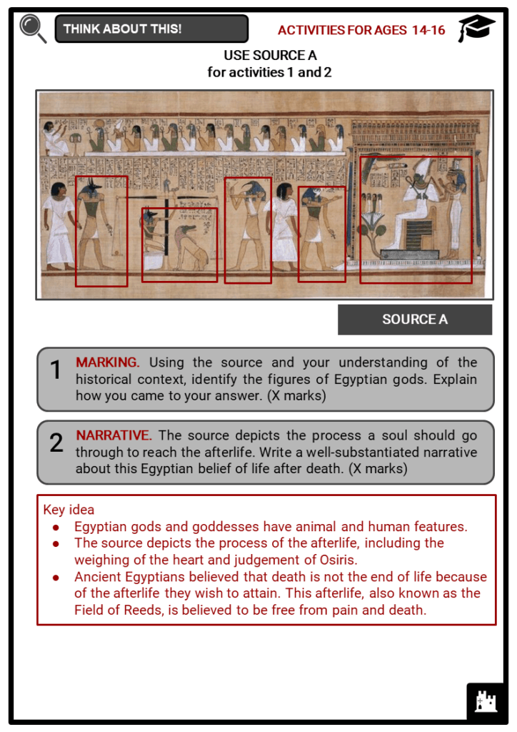 Ancient Egyptian Gods and Goddesses Student Activities & Answer Guide 4
