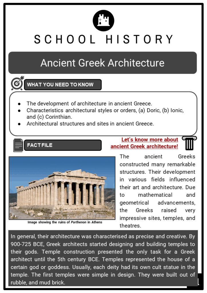 Ancient Greek Architecture Resource Collection 1