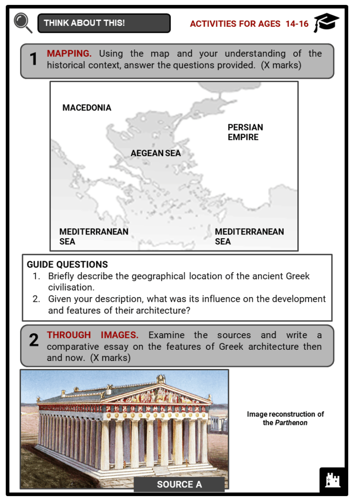 Ancient Greek Architecture Student Activities & Answer Guide 3