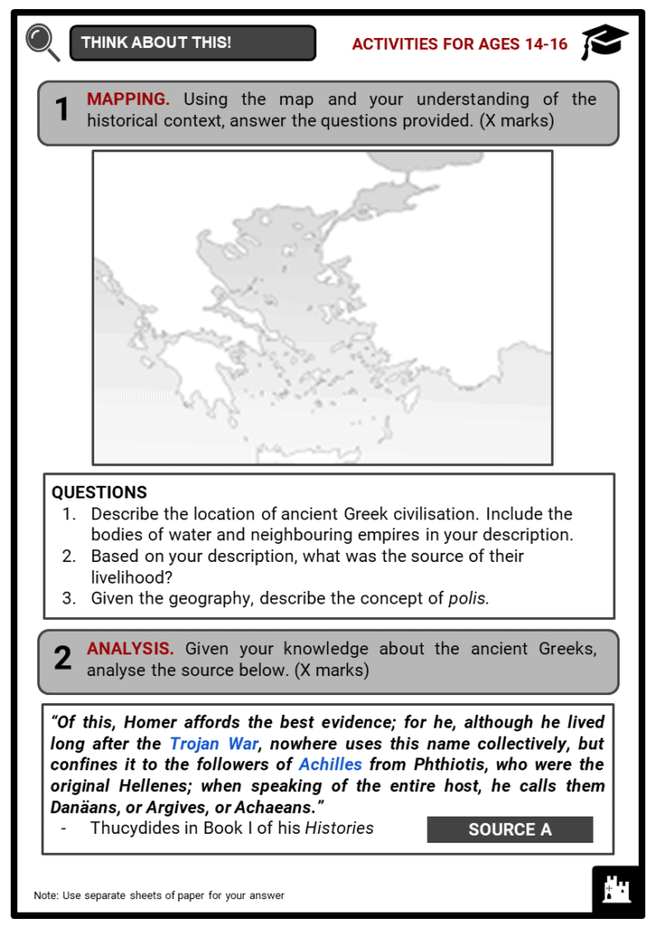 Ancient Greek Civilisation Student Activities & Answer Guide 3