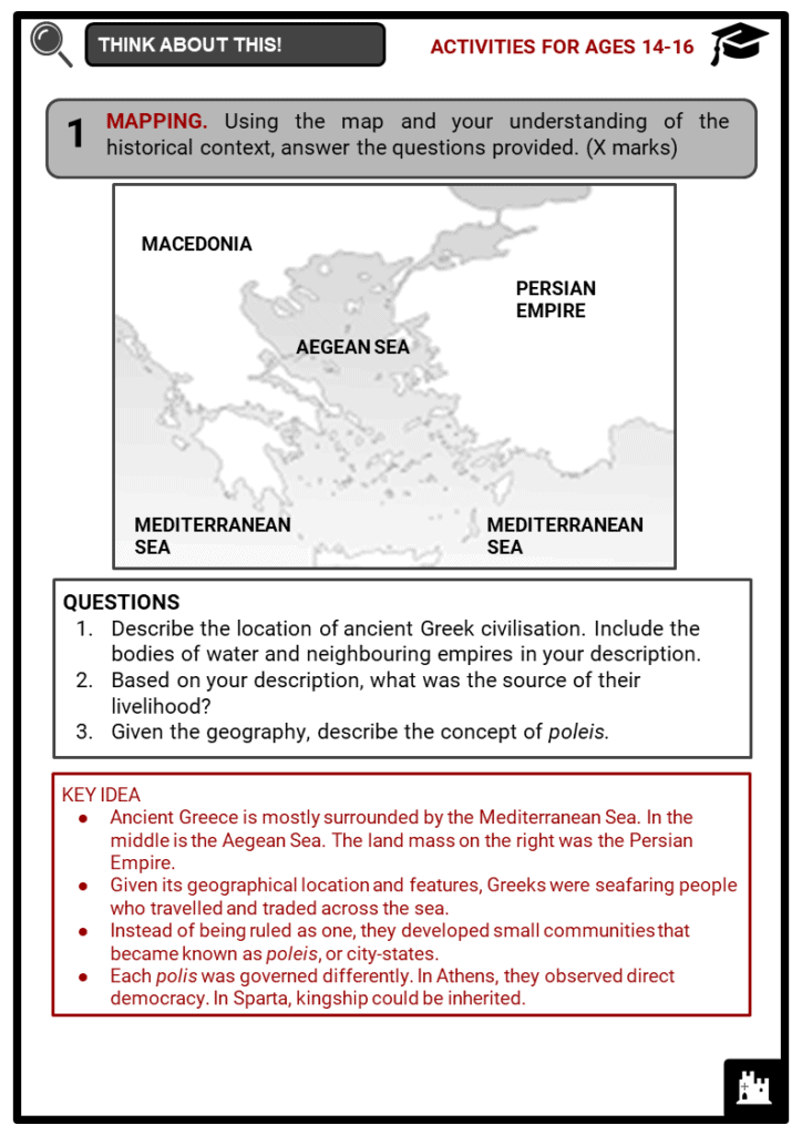 Ancient Greek Civilisation Student Activities & Answer Guide 4