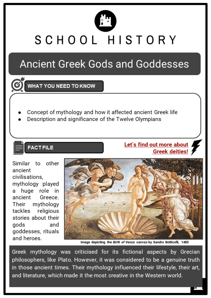 Ancient Greek Gods and Goddesses Resource Collection 1