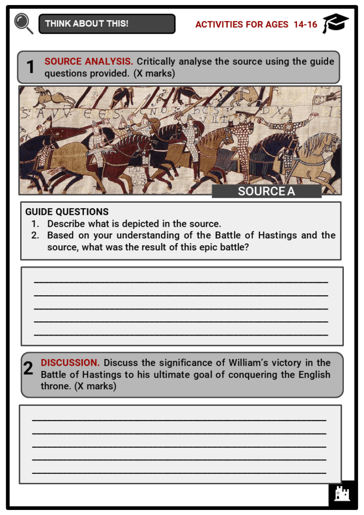 Battle of Hastings Student Activities & Answer Guide 3