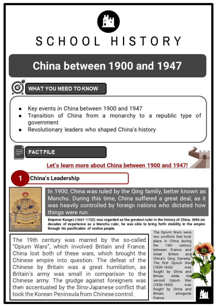 China between 1900 and 1947 Resource Collection 1
