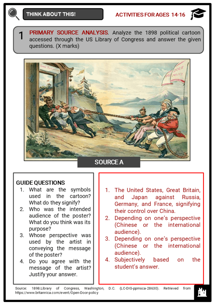 China between 1900 and 1947 Student Activities & Answer Guide 4