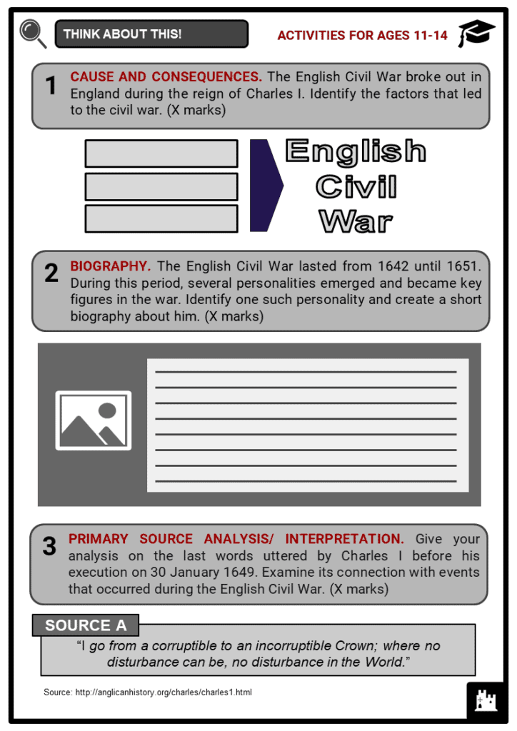 English Civil War Student Activities & Answer Guide 1