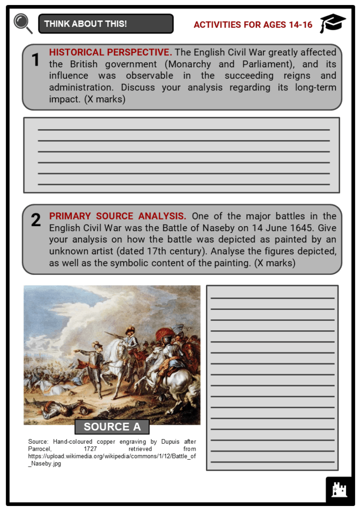 English Civil War Student Activities & Answer Guide 3