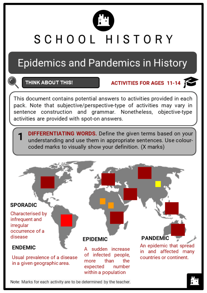 Epidemics and Pandemics in History Student Activities & Answer Guide 2