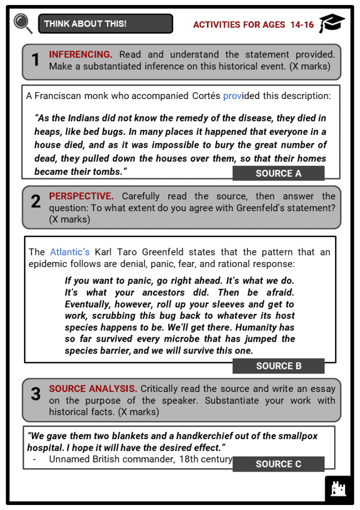 Epidemics and Pandemics in History Student Activities & Answer Guide 3