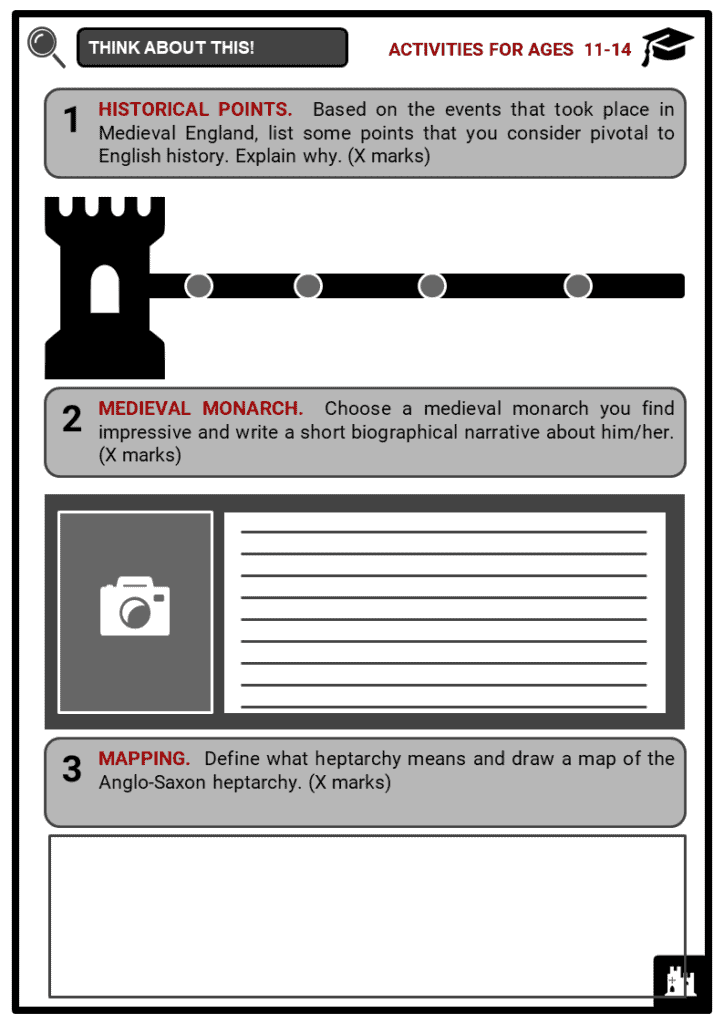 History of Medieval England Student Activities & Answer Guide 1