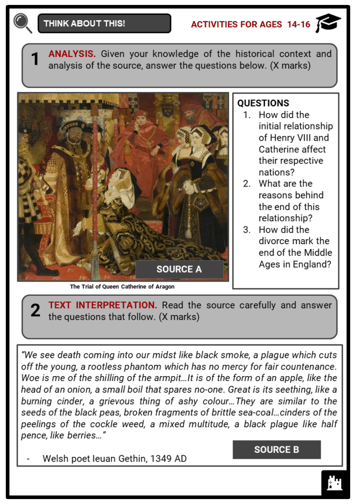 History of Medieval England Student Activities & Answer Guide 3