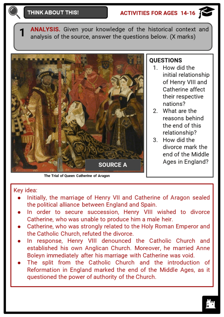 History of Medieval England Student Activities & Answer Guide 4