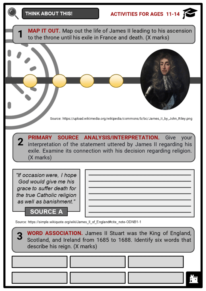King James II Student Activities & Answer Guide 1