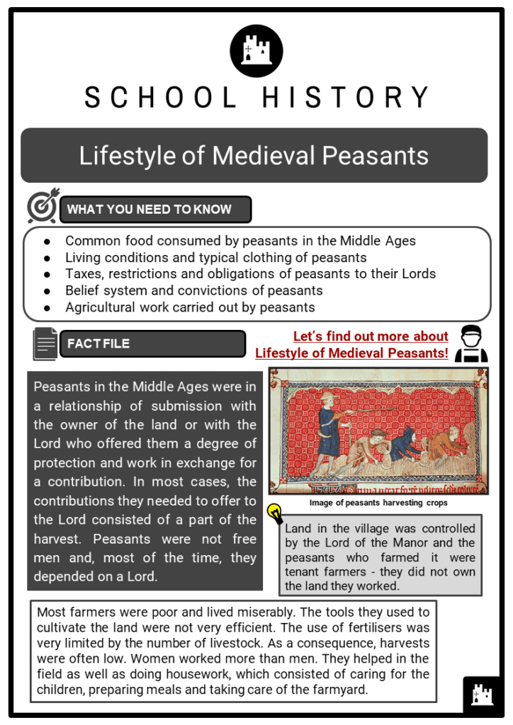 Lifestyle of Medieval Peasants Resource Collection 1