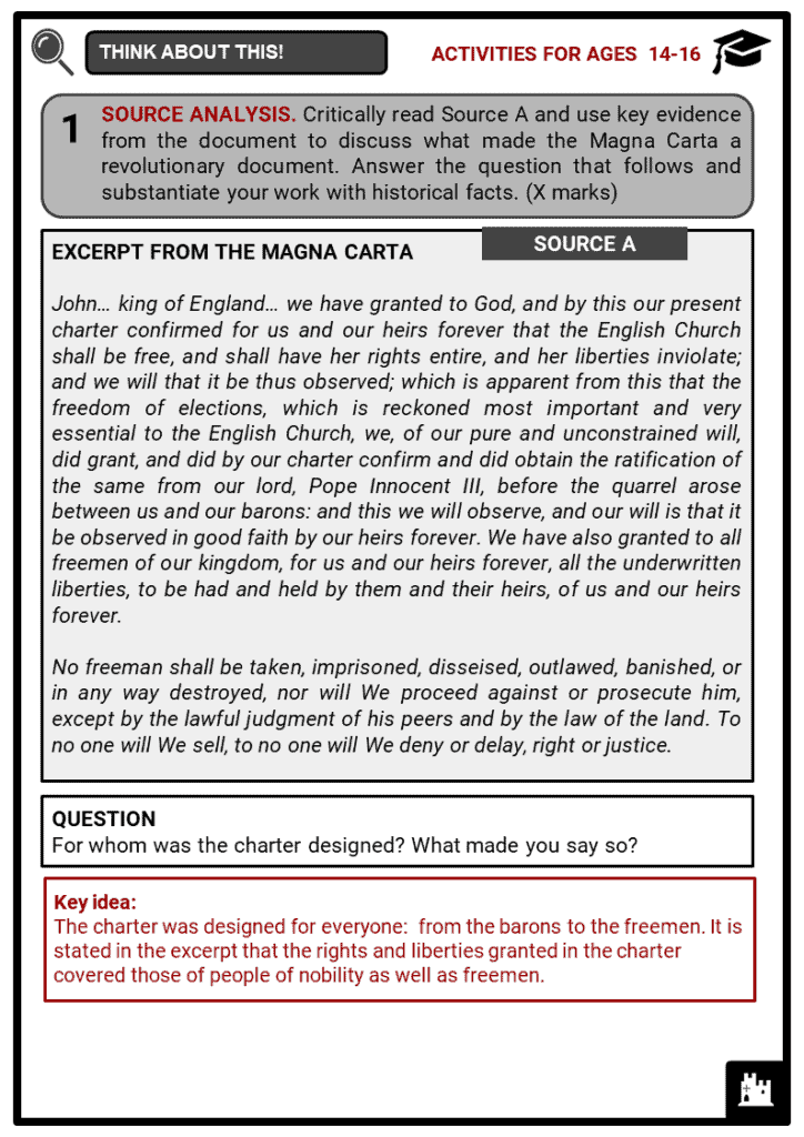 Magna Carta Student Activities & Answer Guide 4