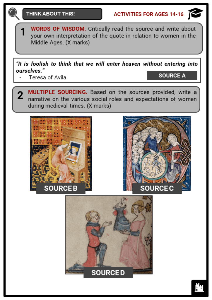 Medieval Women Student Activities & Answer Guide 3