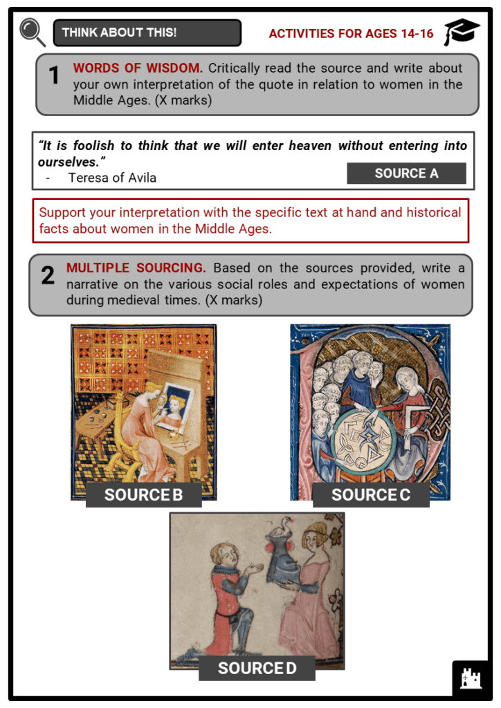 Medieval Women Student Activities & Answer Guide 4