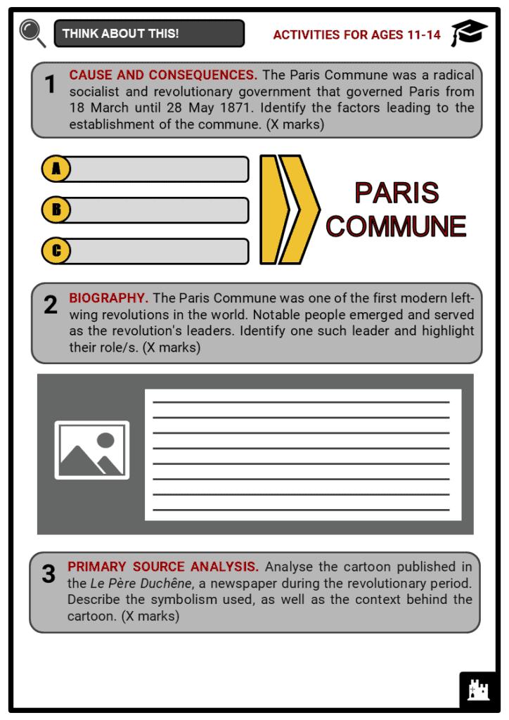 Paris Commune Student Activities & Answer Guide 1