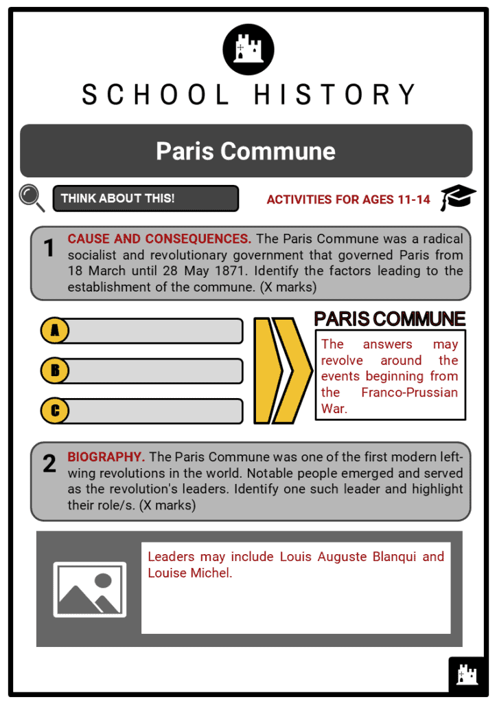 Paris Commune Student Activities & Answer Guide 2