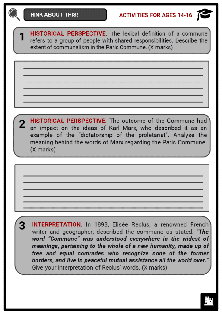 Paris Commune Student Activities & Answer Guide 3