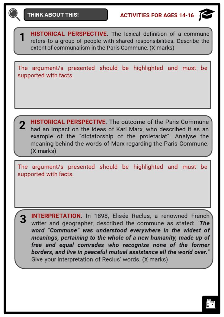 Paris Commune Student Activities & Answer Guide 4