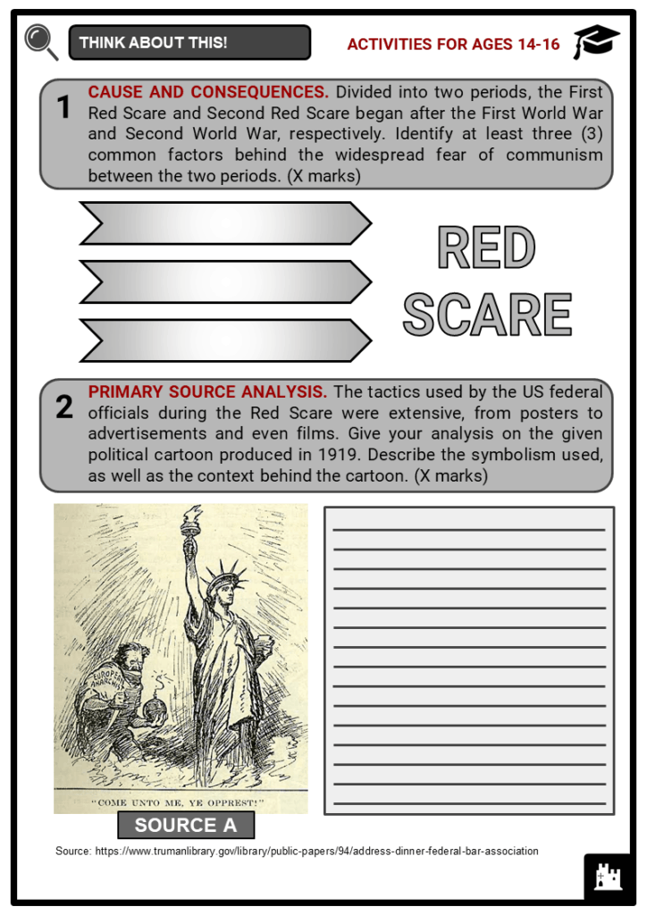 Red Scare Resource Student Activities & Answer Guide 3