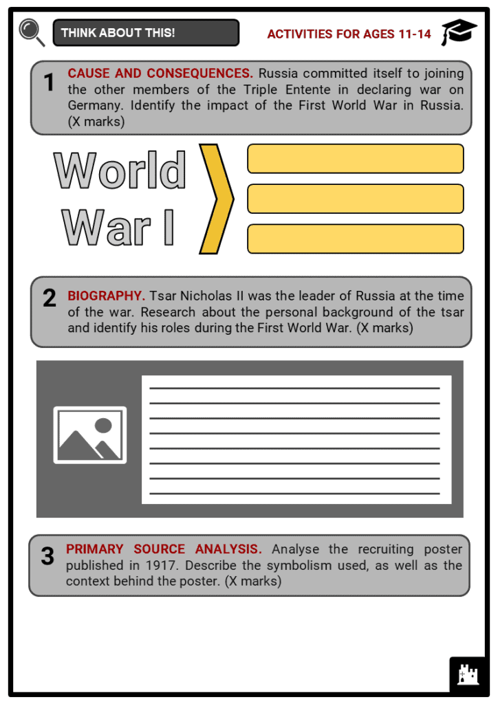 Russia and World War I Student Activities & Answer Guide 1