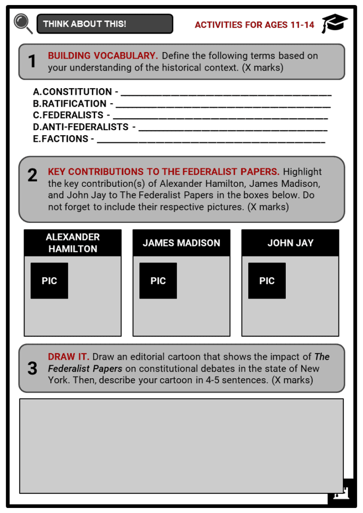 The Federalist Papers Student Activities & Answer Guide 1