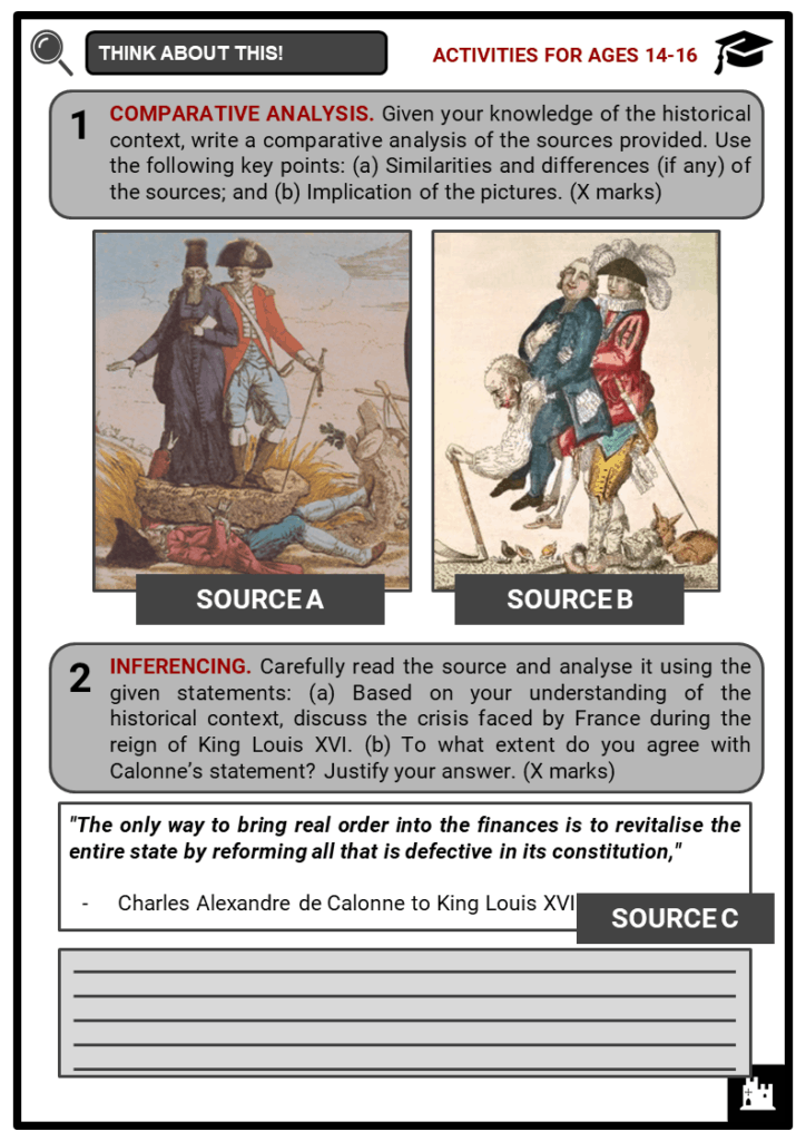 The French Revolution Student Activities & Answer Guide 3