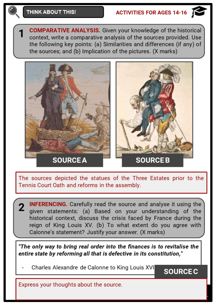 The French Revolution Student Activities & Answer Guide 4
