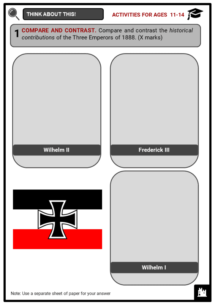The Second Reich Student Activities & Answer Guide 1