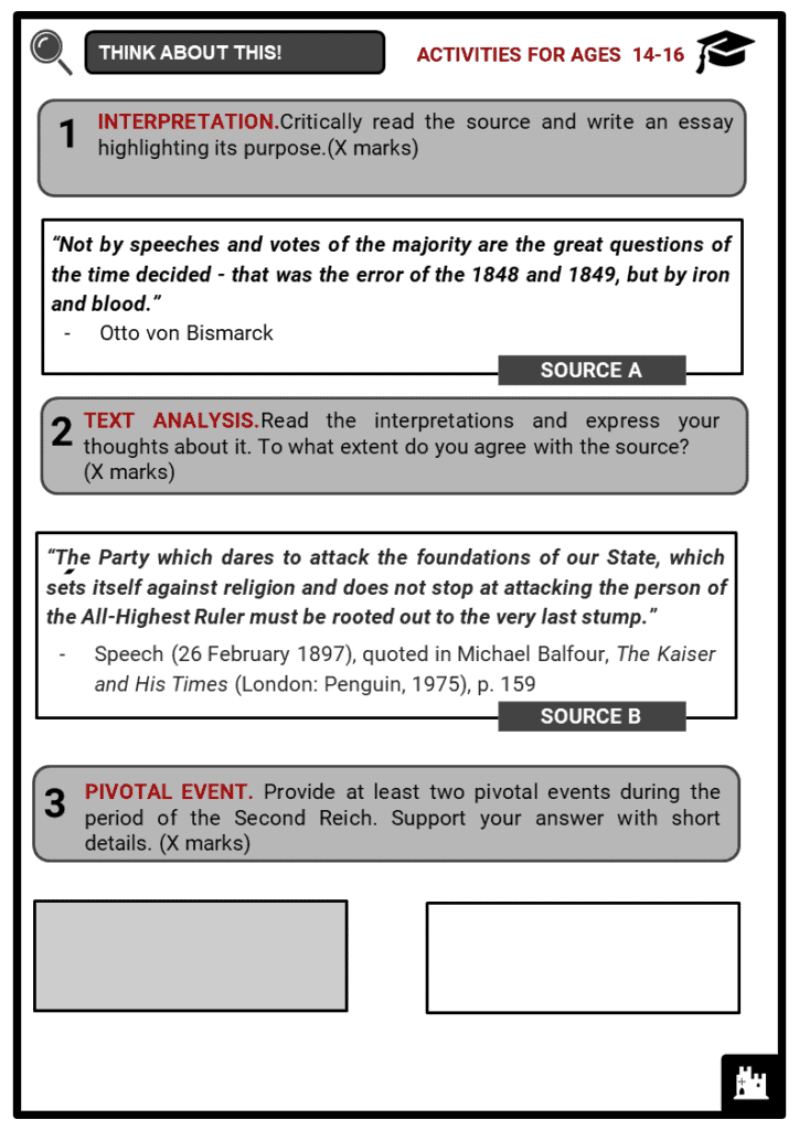 The Second Reich Student Activities & Answer Guide 3