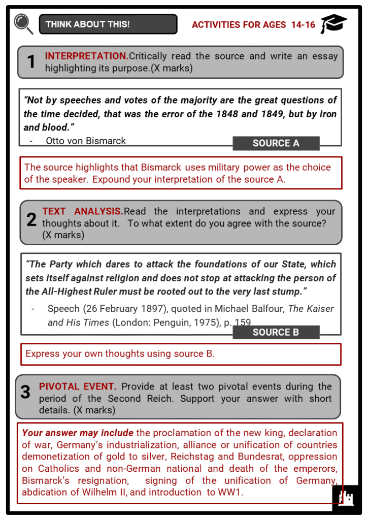 The Second Reich Student Activities & Answer Guide 4