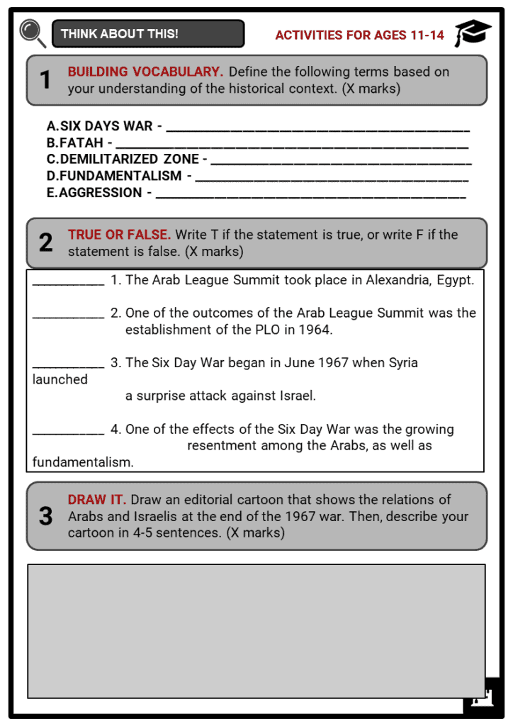 The Six Days War Student Activities & Answer Guide 1