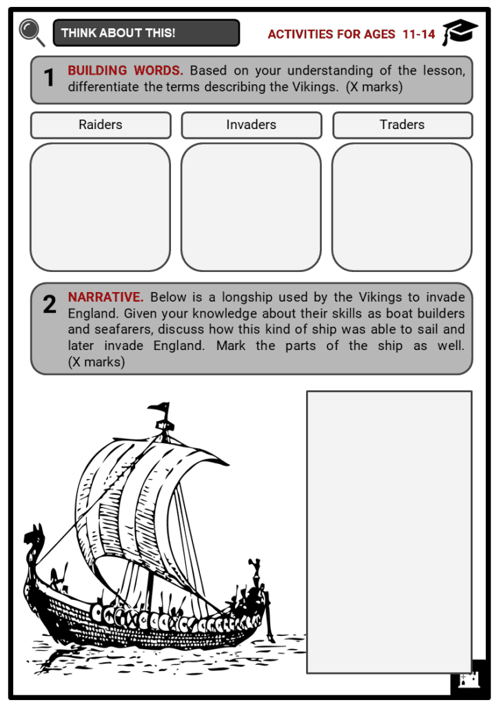 The Vikings invasion of Britain Student Activities & Answer Guide 1