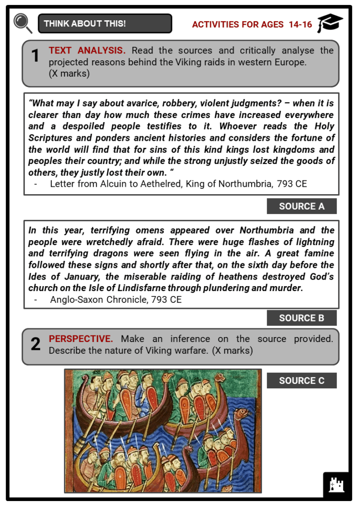 The Vikings invasion of Britain Student Activities & Answer Guide 3