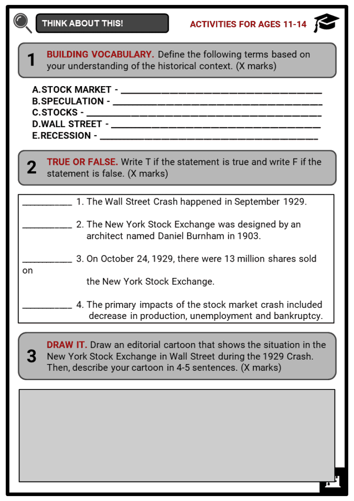 The Wall Street Crash Student Activities & Answer Guide 1