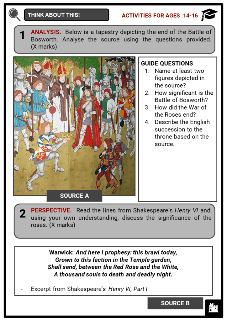 Wars of the Roses Student Activities & Answer Guide 3