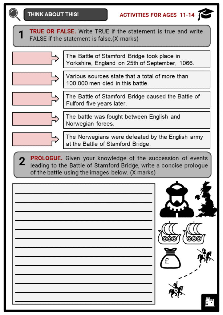 Battle of Stamford Bridge Student Activities & Answer Guide 1